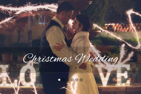 cami+simon christmas wedding feature | up up and away weddings